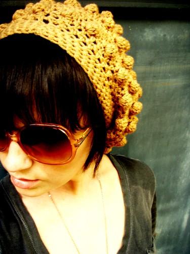 brown bubble beret