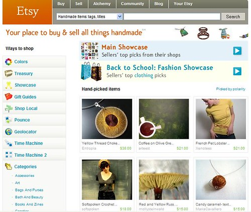 etsy front page!!