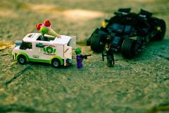 Lego Dark Knight Battle (3rdeyepro) Tags: dark toy lego batman joker knight