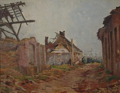Ruines  Reninghe-1917 (Chamant) Tags: life france art nature painting war belgium belgique aquarelle fineart paintings brugge ruin peinture canvas ruine worldwari morte painter oil impressionism bruges ww1 greatwar guerre georges impressionist emile oilpainting 1917 ypres flanders peintre frenchriviera shelled flandre impressionnisme postimpressionism impressionniste albert1er yser grandeguerre peinturelhuile jemappes furnes guerrede14 peintrebelge bombard postimpressionniste lebacq georgesemilelebacq georgesmile belgianpainter georgeslebacq sectionartistique sectionartistiquedelarmebelgeencampagne
