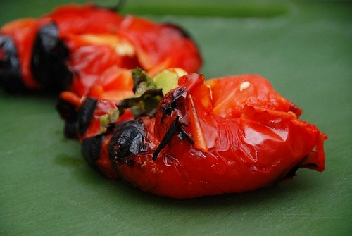 roasted pepper split