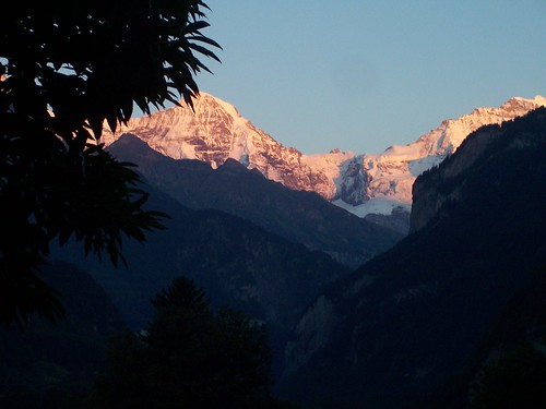 The Eiger, the Mönch and the Jungfrau as the sun sets