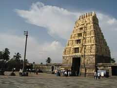 Gopura atop the entrance