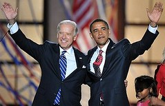 Joe Biden en Barack Obama