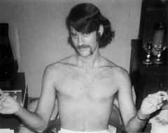 Jeff Ehrlich, February 1971 (Diogioscuro) Tags: shirtless portrait blackandwhite bw jeff ucsc ucsantacruz cuteguy dws diogioscuro