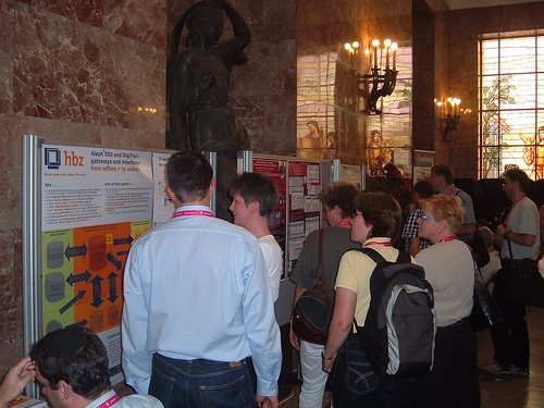 visitors of the poster session