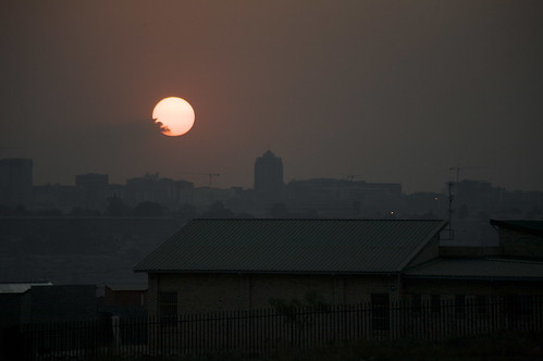 Sunset on Joburg