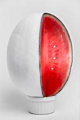 Watermelon Finial (LukeOlsen) Tags: usa oregon umbrella portland watermelon 550ex pw finial representations strobist 580exii lukeolsen pdxstrobist cynthiagreig