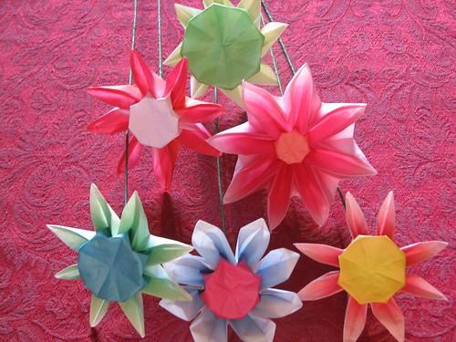 kağıt çiçek örnekleri.