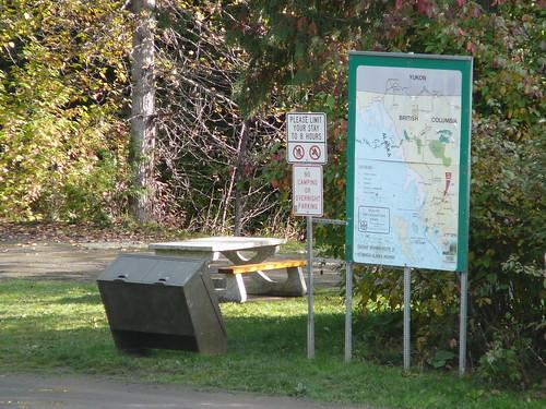 Rest Area, donde almorzamos y mucha sveces dormimos a lo largo de la ruta desde Alaska hasta aqui en Canada