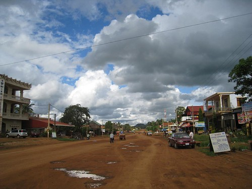 A few patches of blue sky above Ban Lung in Ratanakiri