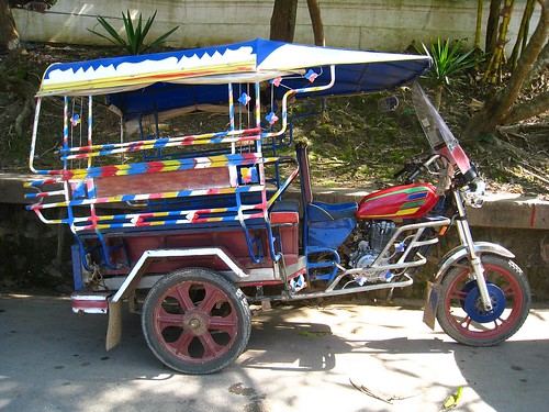 Colorful tuk tuk