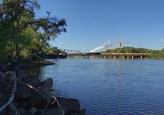 UP 3985 at Bridge 15; St. Paul, MN (Ottergoose) Tags: unionpacific challenger steamlocomotive up3985 bridge15 upmankatosub