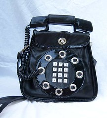 Original Vintage 70's REAL Telephone Purse Handbag (The Vintage Peddler) Tags: 60s fifties 50s etsy handbag sixties vintagepurse peddlingpurses thevintagepeddler