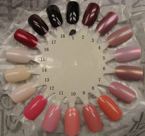 nail wheel: red-pink-french by you.