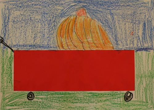 Pumpkin In A Wagon 2