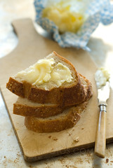 back to basics (mwhammer) Tags: blue brown yellow bread yummy farmersmarket rustic smooth cream delicious butter athome simple wholesome creamy propstyling wholegrain foodstyling melinahammer farmfreshbutter withseasalt outrgageouslygood