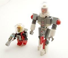Comrade Nikolski and his Robot Friend SHRA-23 (Shadow Viking) Tags: lego space awesome retro communism soviet commie bastard comrade cosmonaut pinko comunist tovarish dasvidanya sovietspaceprogram