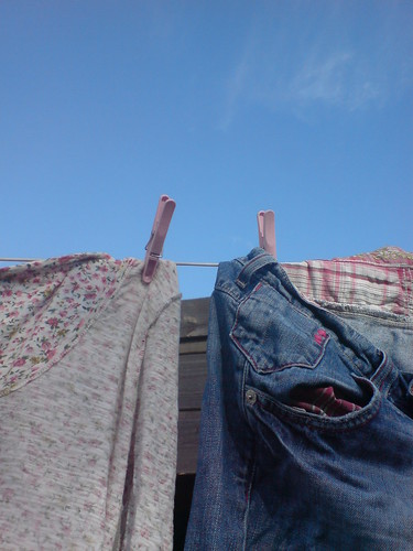 3 blue skies and washing