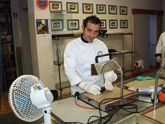 Mario Ragona, lavorazione dello zucchero artistico