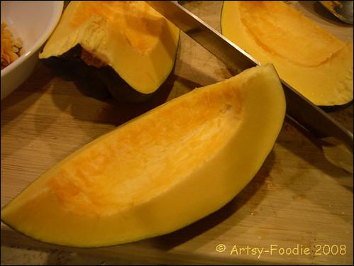 Acorn squash sliced