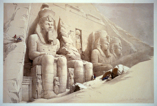 015- El gran templo de Aboo-Simble en Nubia- David Roberts- 1846-1849