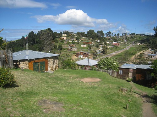 View of the surrounding township with the Rasta tabernacle to the left
