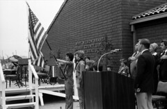 Mary Wilson Branch dedication, Orange County Public Library, Seal Beach, Feb. 1978 (Orange County Archives) Tags: california history library americanflag historical southerncalifornia orangecounty pledgeofallegiance sealbeach liblibs boyscoutsofamerica marywilson orangecountylibrary orangecountypubliclibrary orangecountyarchives orangecountyhistory orangecountyfreelibrary laurenceschmidt troop642