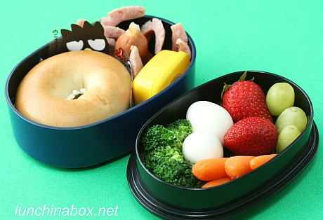 Mini bagel sandwich bento lunches