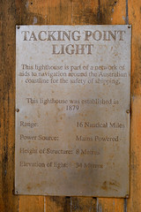 Port Macquarie (yewenyi) Tags: trip holiday sign australia nsw newsouthwales aus portmacquarie tackingpoint established1879 holiday2008 mainspowered 8meterstall 34metersabovesealevel range16nauticalmiles 5kmseofportmacquarie takcingpointlighthouse