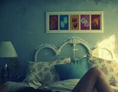 il tempo sta fermo (Elena Bertolo) Tags: blue me girl female writing self canon vintage eos rebel bed room leg dslr xsi layingdown