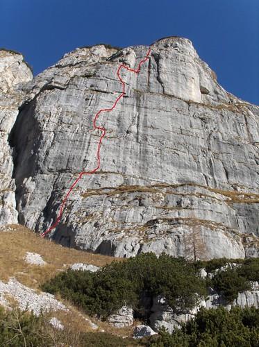 Übersicht Monte Poviz SW-Wand