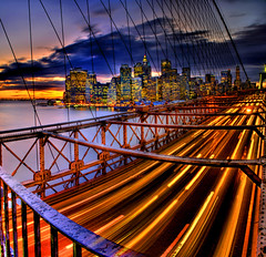 busy busy, river of lights! (Tony Shi.) Tags: nyc newyorkcity sunset skyline pano dumbo brooklynbridge wallstreet stich  downtownmanhattan    longexposurehdr  cityscaper   thnhphnewyork