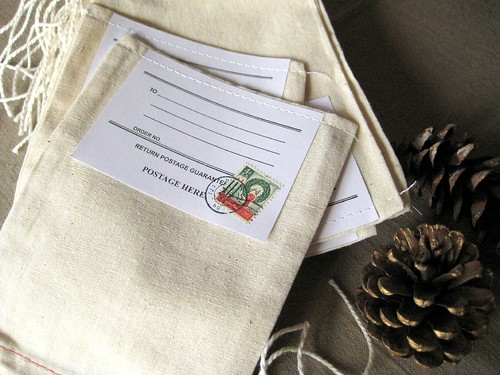 Christmas stamp gift bag