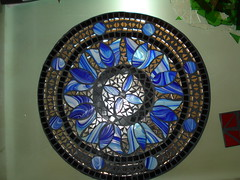 blu/mirror mosaic (Aruna Upadhya (KaanchStainedglass)) Tags: art glass mirror mosaic stainedglass stained glassmosaic opaqueglass glassonglass kaanchstainedglass