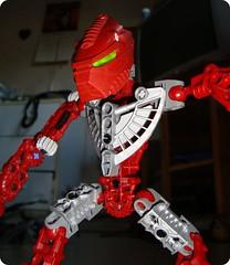 Red robot (sebilden) Tags: toys robot lego bionicle sebilden