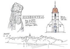 70 Ray-sur-Saone, Vellexon, Montot (gerard michel) Tags: france sketch église franchecomté croquis montot nicodème vellexon raysursaône