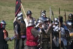 IMG_5388 (jgmdoran) Tags: canon flags archer reenactment 2007 militaryodyssey platemail lancastrians billhook arquebus waroftheroses highmedieval yorkists