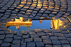Mirror (Capitan Mirino ( il Tartarughino )) Tags: italy roma reflection water puddle trastevere acqua sampietrini lazio riflesso smrgsbord pozzanghera goldenglobe platinumheartaward multimegashot flickrlovers guasdivinas naturescreations