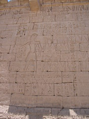 9737 - North side of 2nd Court relief (LS Baker Jr) Tags: egypt medinethabu touregypt2008 lsbakerjr scottiebaker