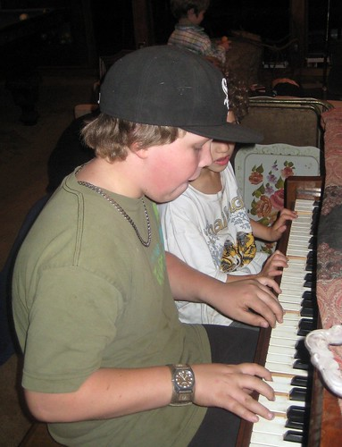 Daniel & Caleb on the piano