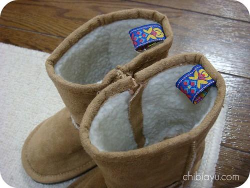 レモールのフェイクムートン子供用ブーツ2