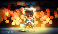 Bokeh in sandglass-Seize the moment () Tags: friends light party apple colors night digital photoshop canon studio design aperture pretty bright image time sweet bokeh gorgeous flash explore vision colourful lovely designers wishing creations iphone 100f creativecolor hbw theunforgettablepictures happybokehwednesday beautifulshot llovemypics hawaalrayyanfav flickrsmasterpieces vchenjingyuangel luvmmy