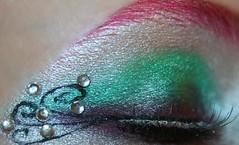 (wisely-chosen) Tags: november selfportrait macro eye me colorful makeup 2008 rhinestones picnik falseeyelashes manicpanichothotpink blackliquideyeliner coastalscentsultrashimmermicapowder coastalscentsantiqueredmica