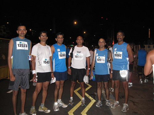 Singapore Marathon 2008 - Chennai Runners @ Starting Point