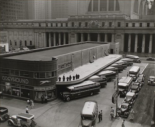 Greyhound Bus Terminal, 33rd and 34th Streets between Sevent...