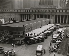 Greyhound Bus Terminal, 33rd and 34th Streets between Seventh and Eighth Avenues, Manhattan