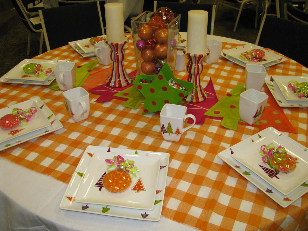 Orange table