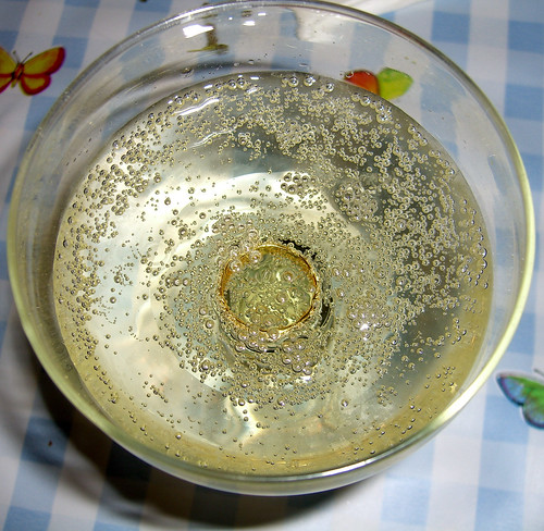 Champagne with Wedding Ring