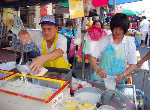 soy milk vendor